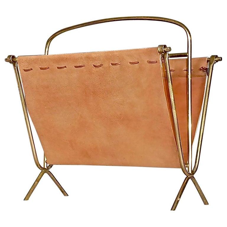 Leather Magazine Racks 116 For Sale On 1stdibs