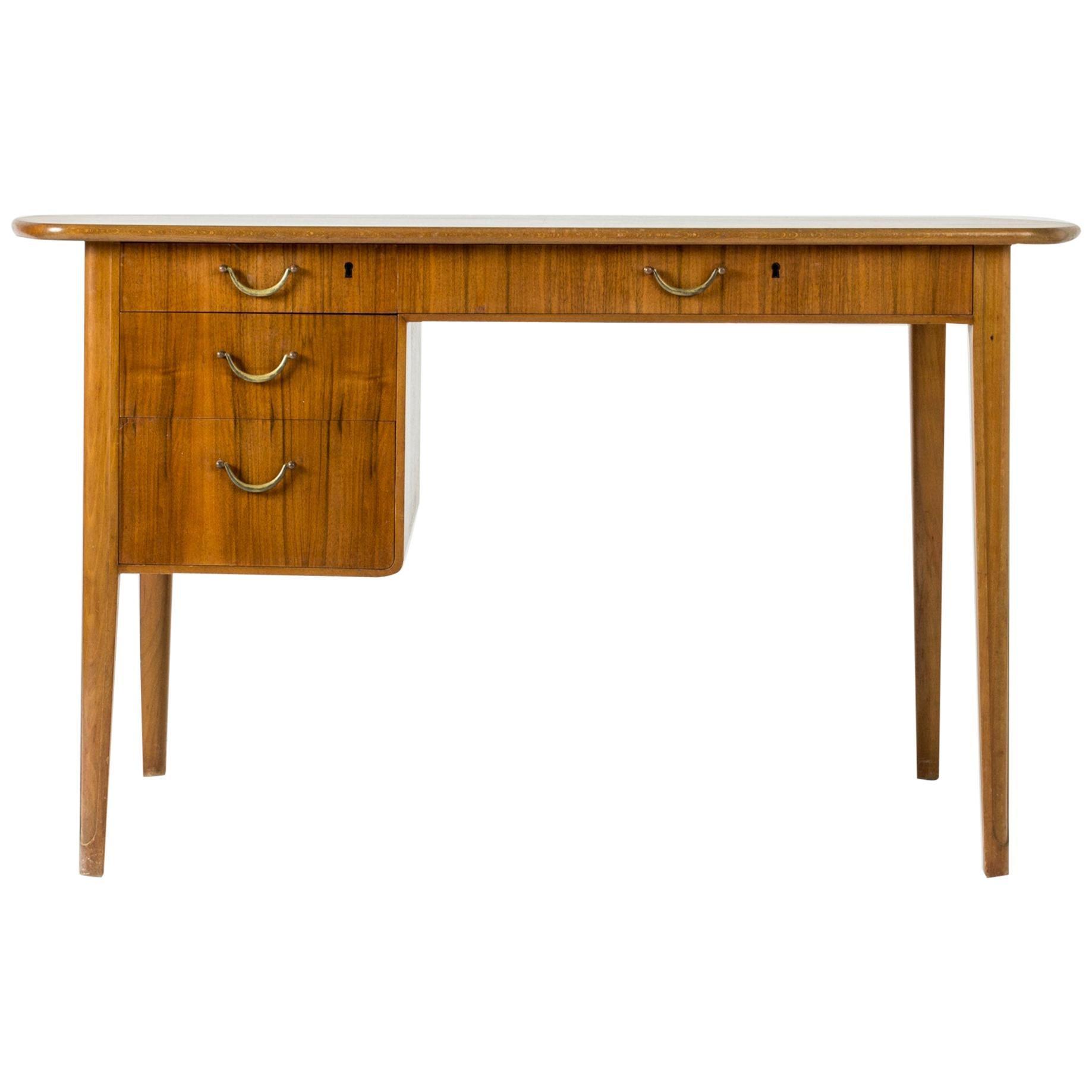 Midcentury Mahogany Desk, Sweden, 1950s