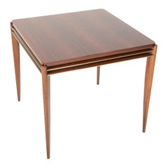 Midcentury Mahogany Games Table with Gilt Brass Detail