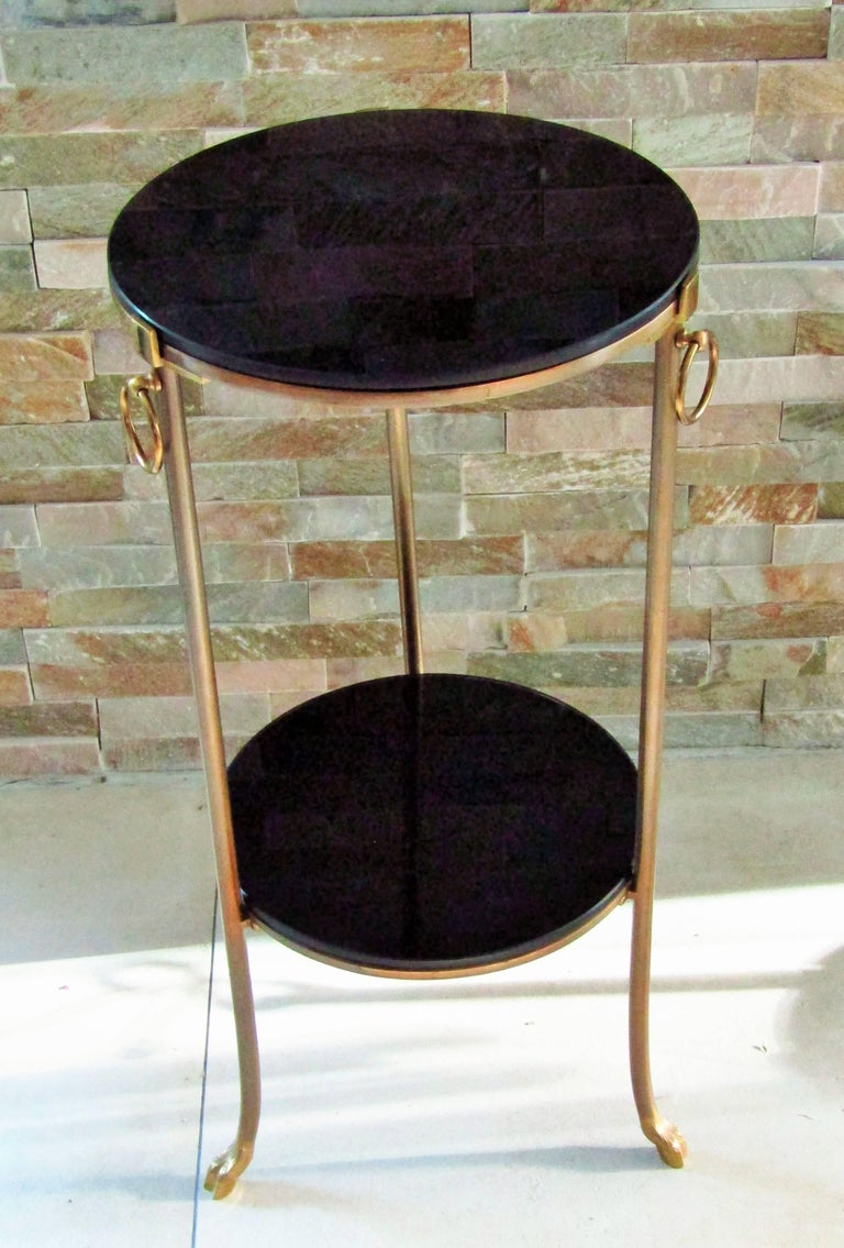 Midcentury Maison Charles Brass Side Table For Sale 4