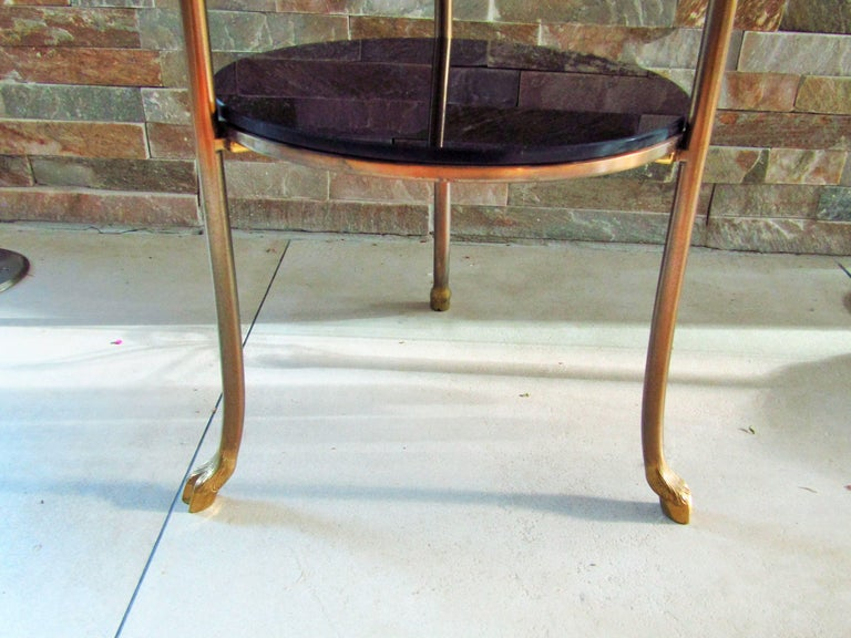 Midcentury Maison Charles Brass Side Table For Sale 5