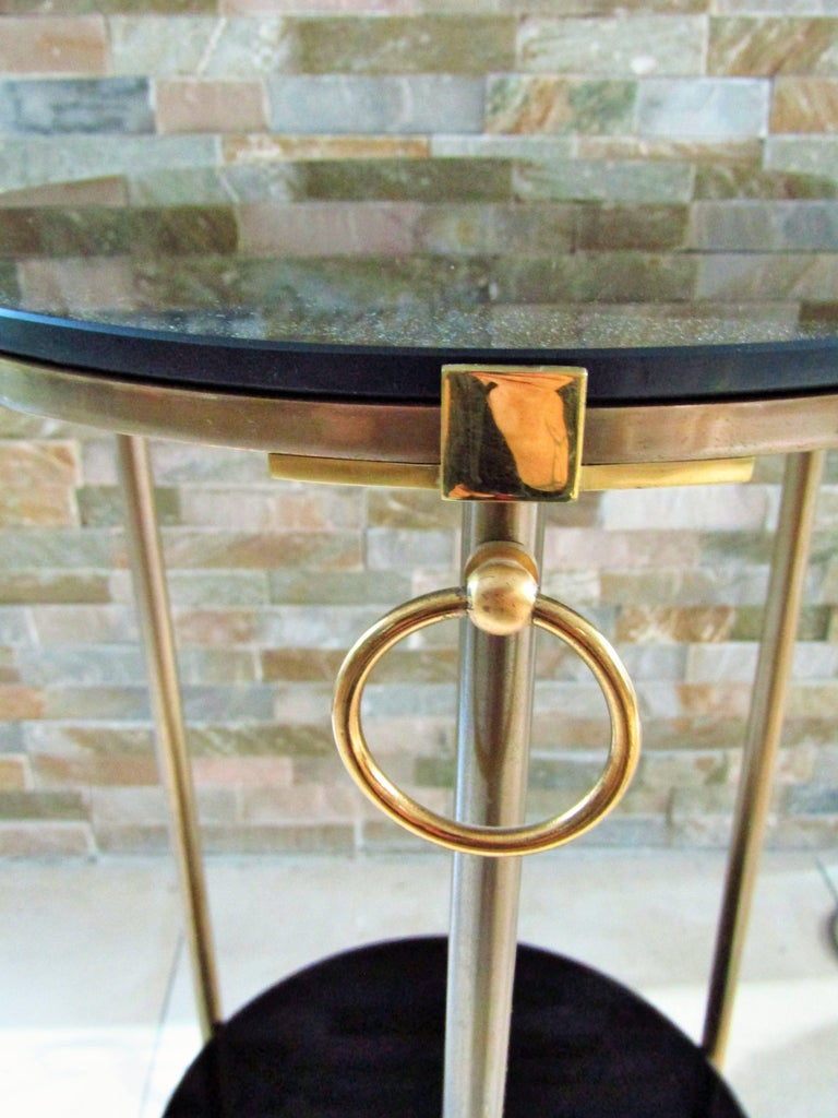 Midcentury Maison Charles Brass Side Table For Sale 7