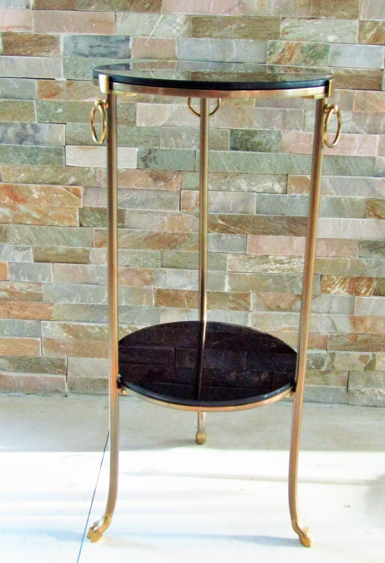 Mid-Century Modern Midcentury Maison Charles Brass Side Table For Sale