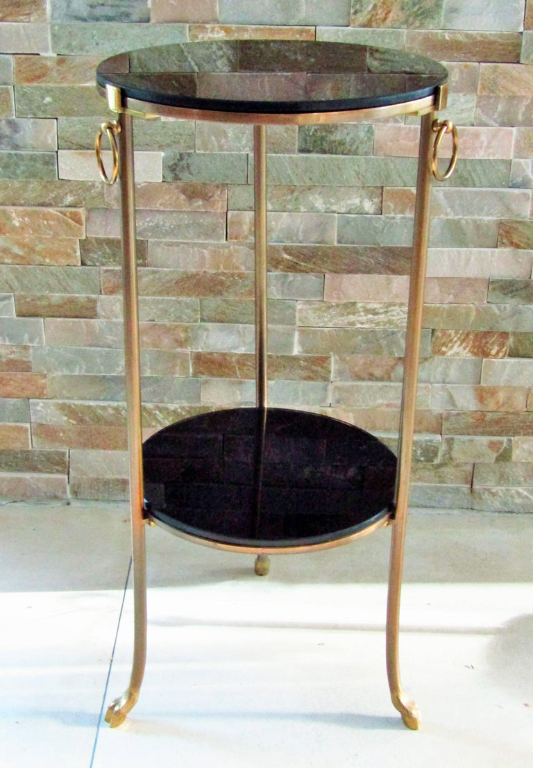 French Midcentury Maison Charles Brass Side Table For Sale