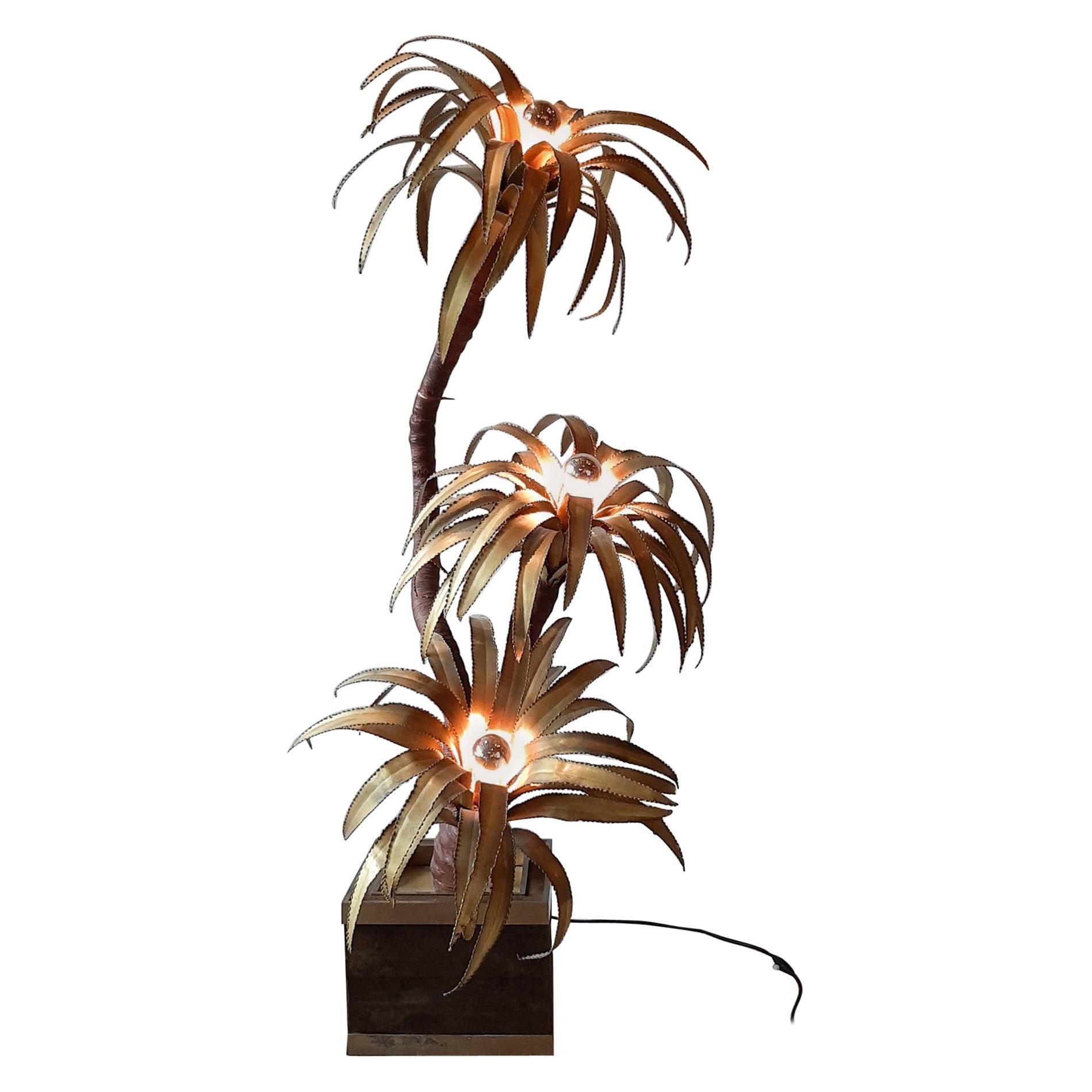 Midcentury Maison Jansen Palm Tree Lamp