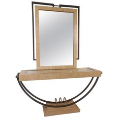 Midcentury Maitland Smith Style Vanity with Mirror