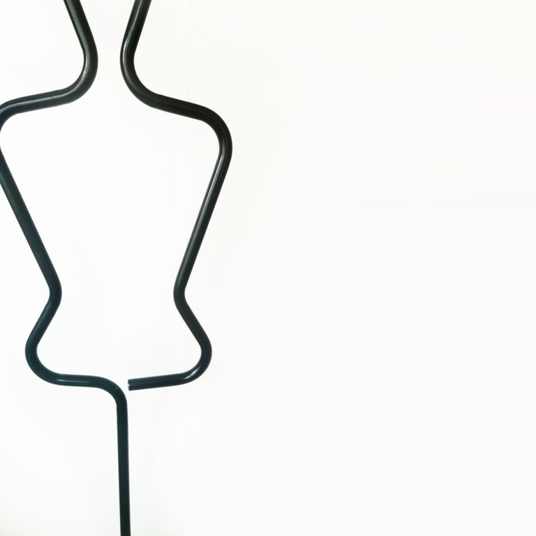 Midcentury Male Coatracks Stand, Tubular Black, Italy, 1980s 'Male' 3