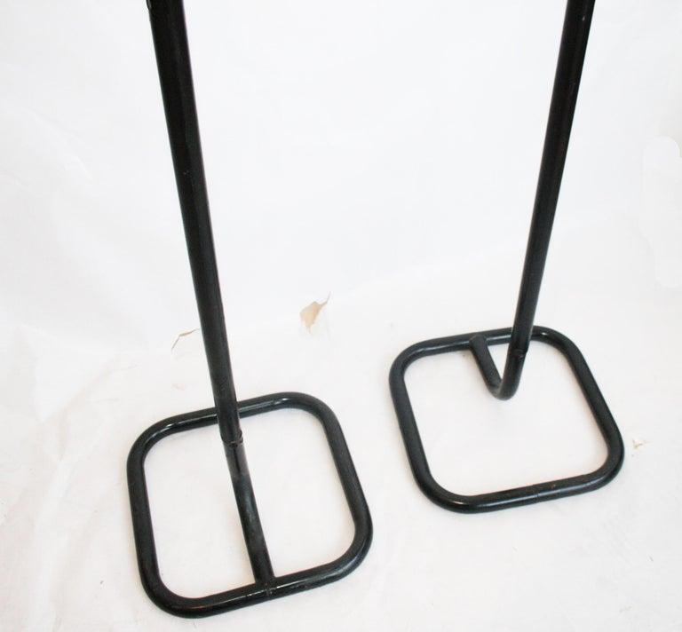 Midcentury Male Coatracks Stand, Tubular Black, Italy, 1980s 'Male' 2