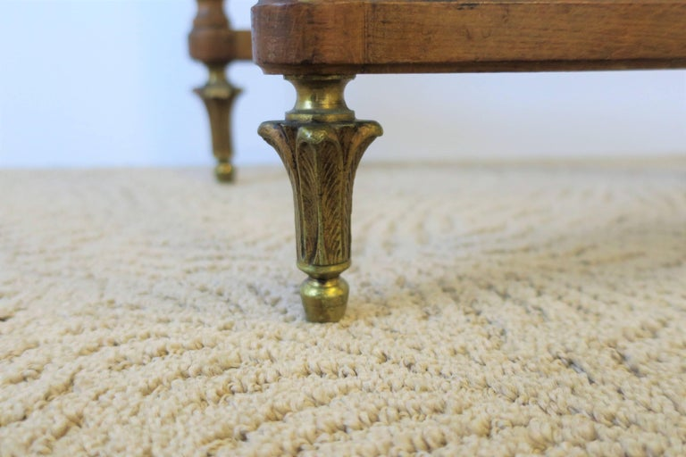 Neoclassical Marble and Brass Console Table For Sale 14