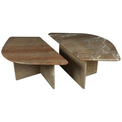 Midcentury Marble Coffee Tables from France, circa 1970