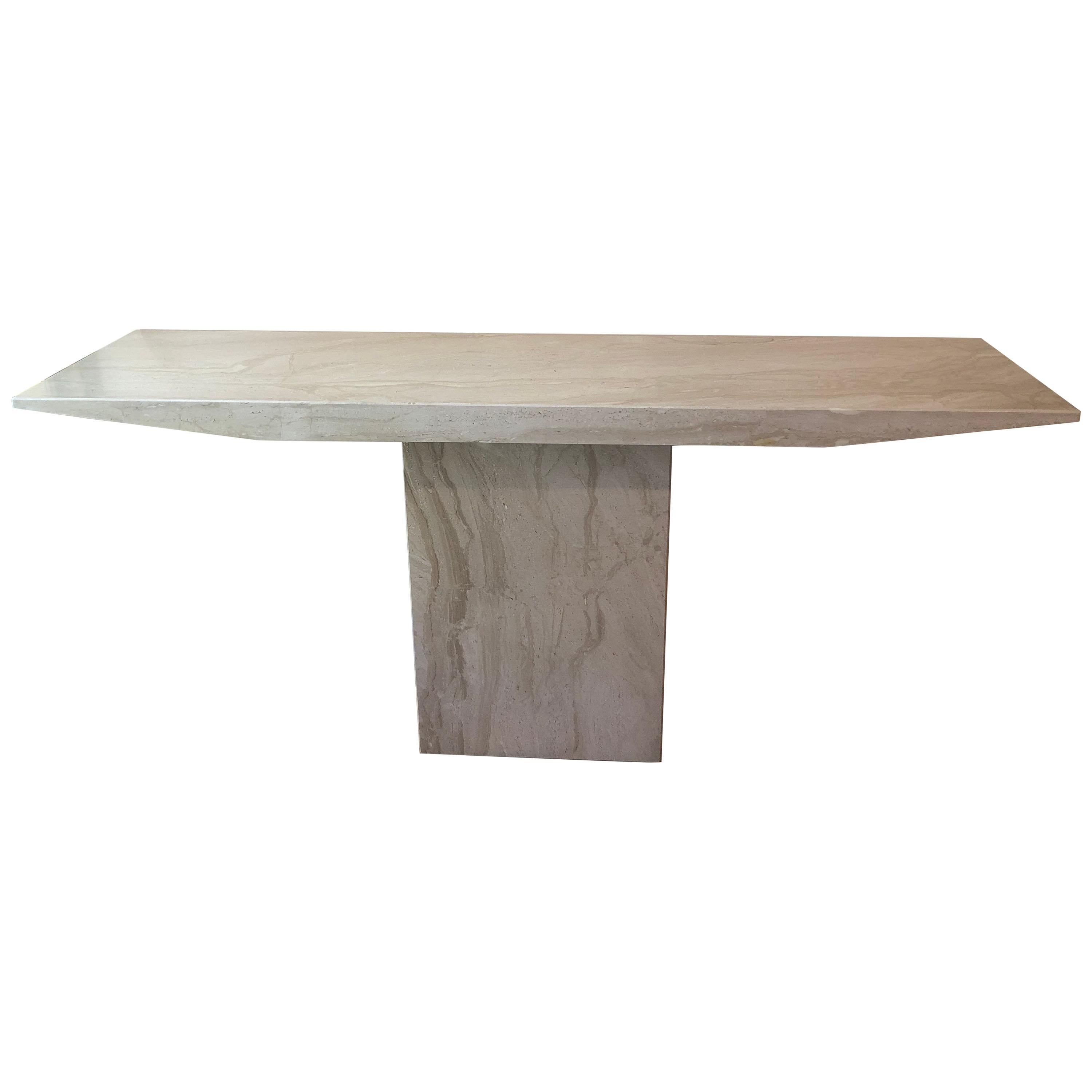 Mid Century Marble Console Table