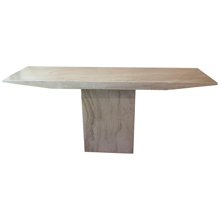 Midcentury Marble Console Table For Sale