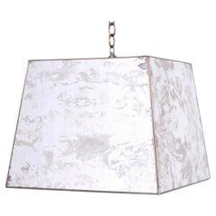 Midcentury Marbleized Mirror Pendant or Light Fixture