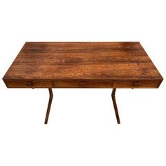 Midcentury Medium Sized Minimalist Rosewood Desk by Georg Petersens