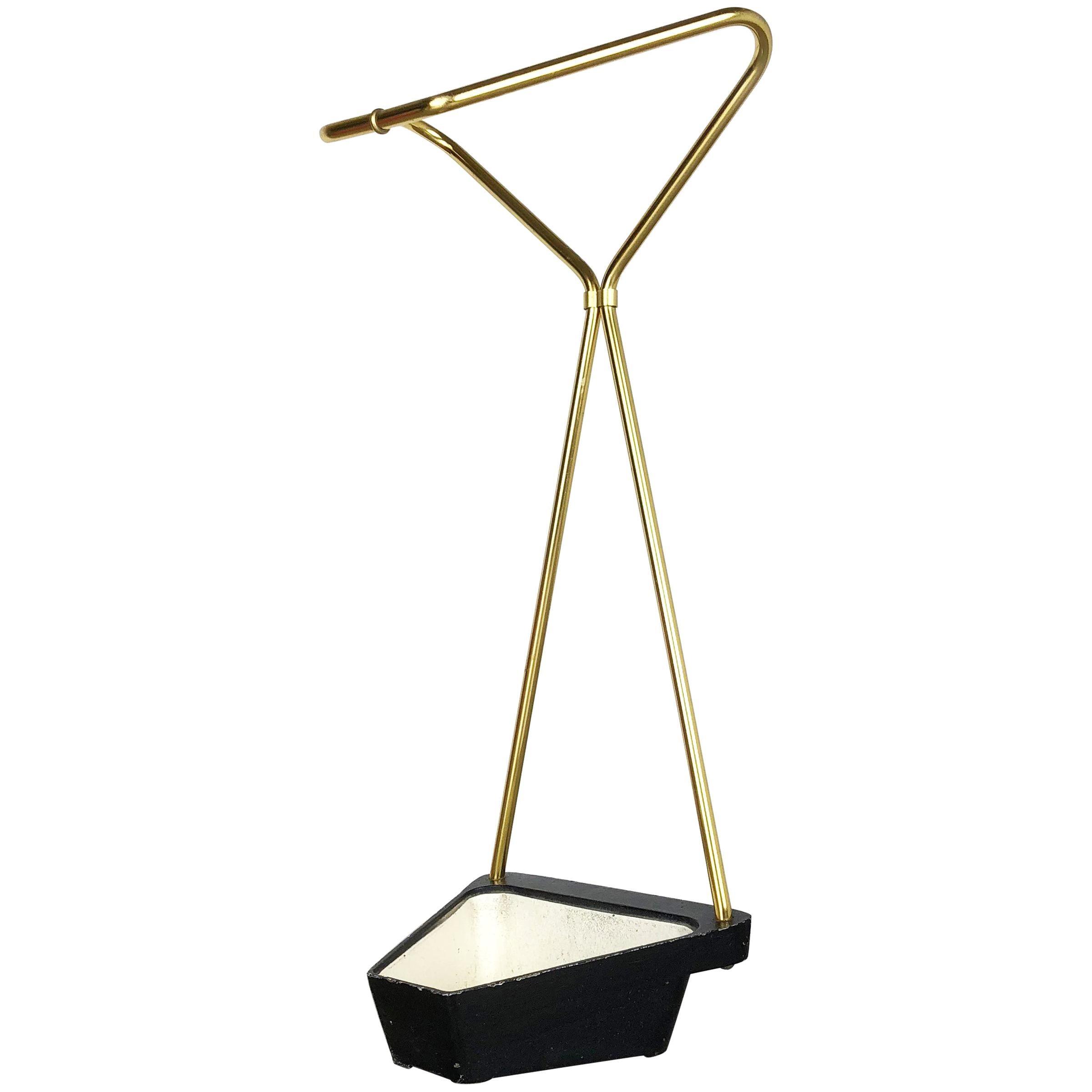 Midcentury Metal Brass Umbrella Stand, Germany, 1950s, Nr. 1