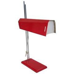Midcentury Metal Desk Lamp by Josef Hurka for Lidokov, circa 1960