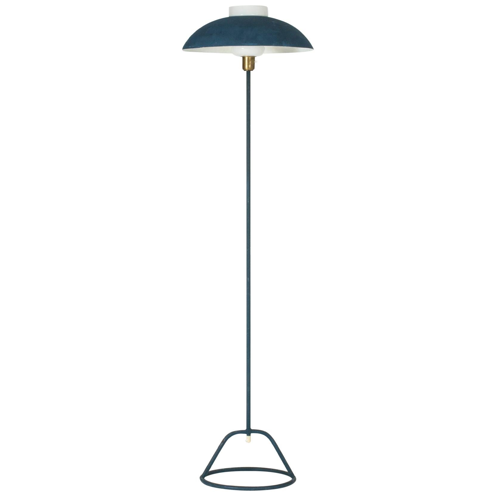 Midcentury metal floor lamp by Bertil Brisborg