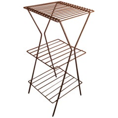 Midcentury Metal Wire Side Table / Stand