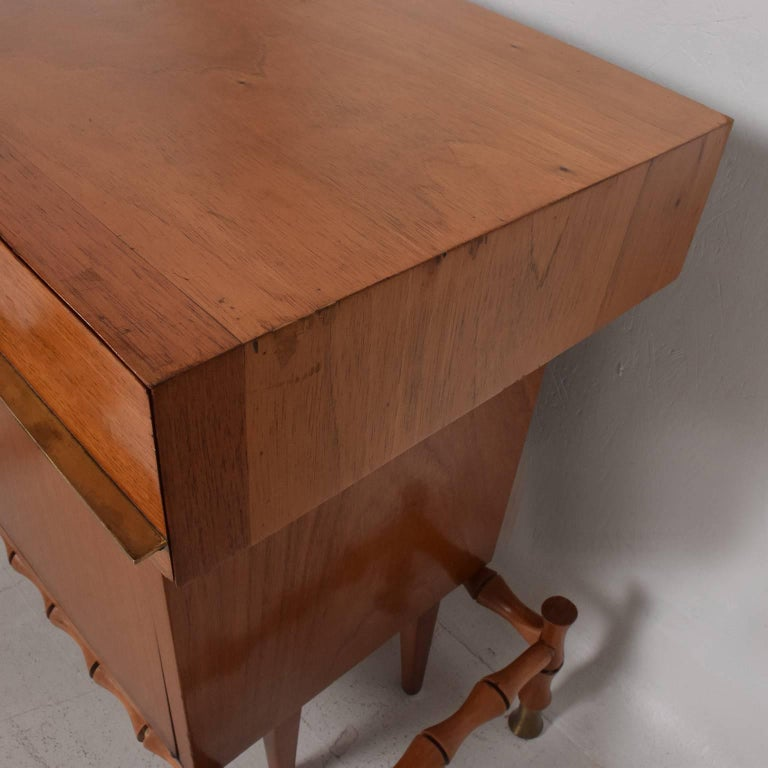 Midcentury Mexican Modernist Floating Bamboo Credenza, Frank Kyle, 1960s In Good Condition For Sale In National City, CA