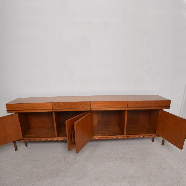 Midcentury Mexican Modernist Floating Bamboo Credenza, Frank Kyle, 1960s For Sale 1