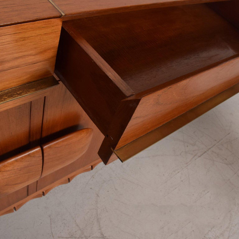 Midcentury Mexican Modernist Floating Bamboo Credenza, Frank Kyle, 1960s For Sale 2