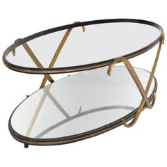 Midcentury Mexican Modernist Oval Coffee Table after Arturo Pani