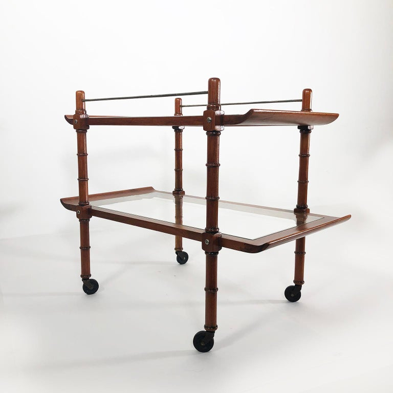 Mid-Century Modern Midcentury Mexican Modernist Service Cart by Frank Kyle For Sale