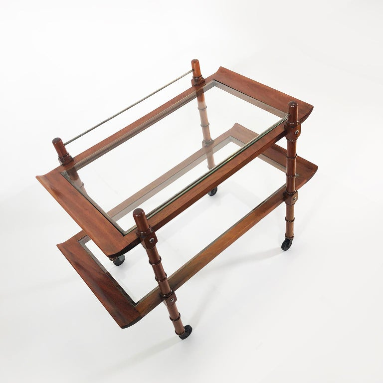 Midcentury Mexican Modernist Service Cart by Frank Kyle In Good Condition For Sale In Mexico City, CDMX