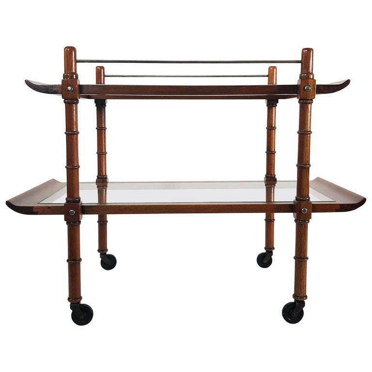 Midcentury Mexican Modernist Service Cart by Frank Kyle For Sale