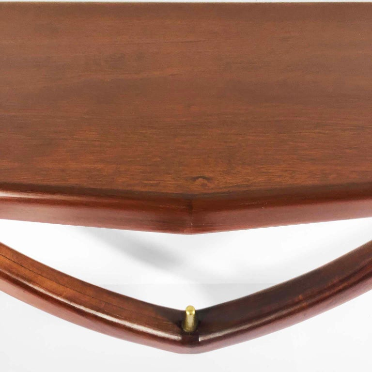 Mid-20th Century Midcentury Mexican Modernist Wall Mount Curvy Console by Eugenio Escudero For Sale