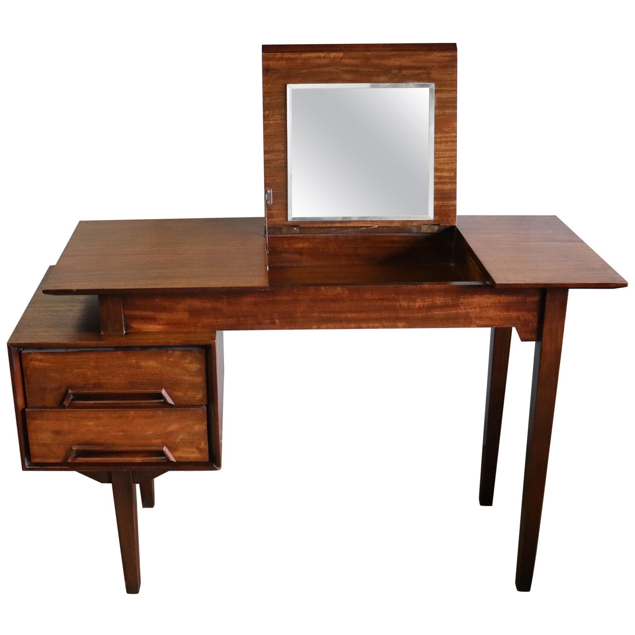 Midcentury Milo Baughman Desk Vanity Perspective for Drexel