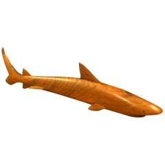 Midcentury Minimalist Shark Carving / Sculpture in Rosewood