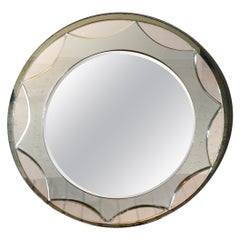 Midcentury Mirror Round, Attributed to Max Ingrand for Fontana Arte, 1960s