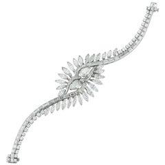Midcentury Mixed Cut Diamond Bracelet