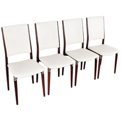 Midcentury Mod S81 by E. Gerli for Tecno Wood Metal and Skai Leather Italy 60s