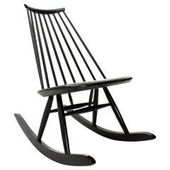 Mid-Century Modern Black Mademoiselle Rocking Chair by Ilmari Tapiovaara for Art