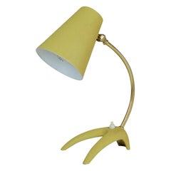Midcentury Modern Brass and Metal Table Lamp Ewå, Sweden, 1950s