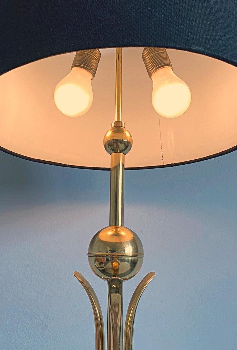 Mid-Century Modern Brass Tripod Floor Lamp, 1950s, Italy For Sale 2