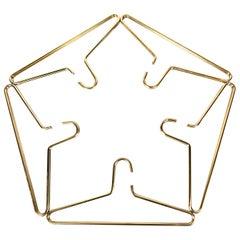 Midcentury Modern Carl Auböck Gold Plated Brass Coat Hangers, 1960s, Austria