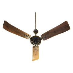 Midcentury Modern CGE 'Compagnia Generale Elettricità' Cast Iron Ceiling Fan