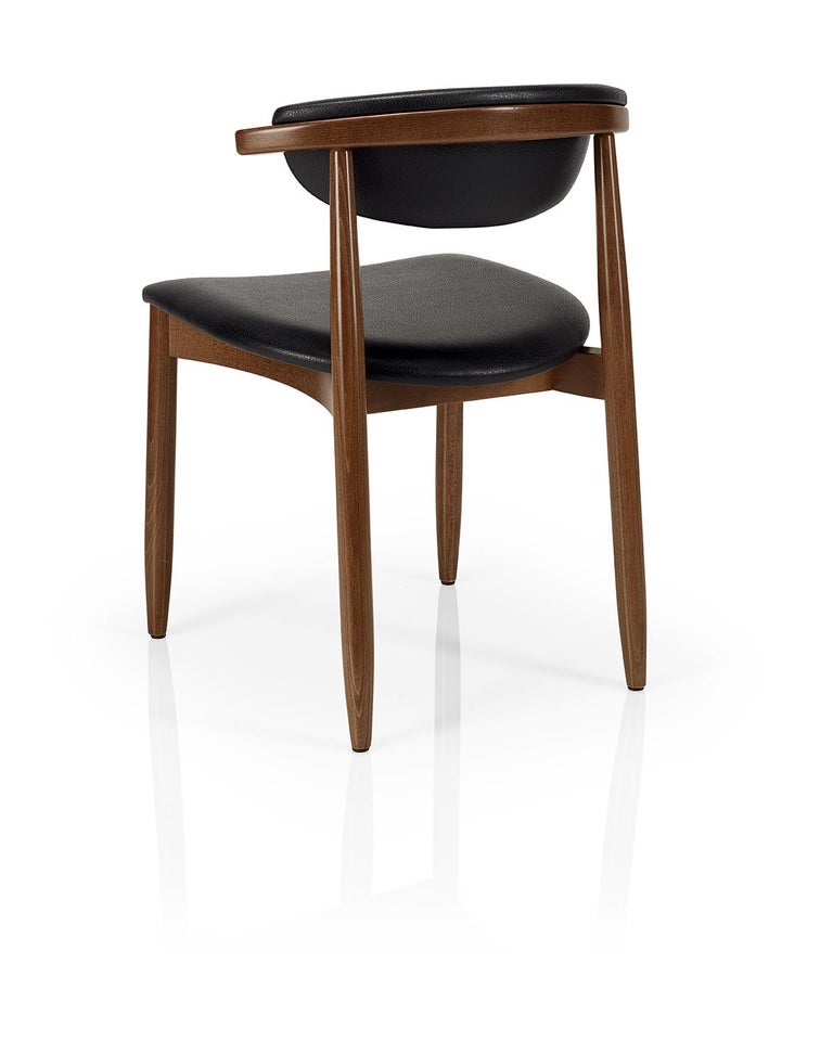 Portuguese Mid-Century Modern Dining Chairs Set of 8 For Sale