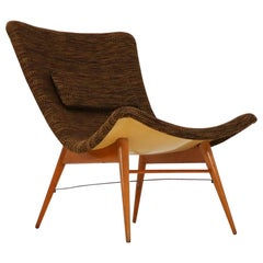 Mid-Century Modern Fiberglass Lounge Chairs by Miroslav Navratil CZ, 1959