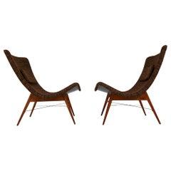 Mid-Century Modern Fiberglass Lounge Chairs by Miroslav Navratil, Czechia, 1959