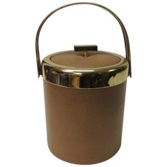 Midcentury Modern Ice Bucket with Gold Handle