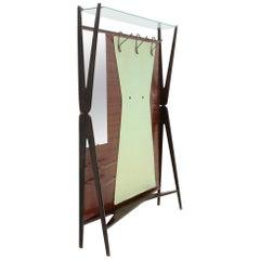Mid-Century Modern Italian Coat Hanger with Mirror and Umbrella Stand, 1950s