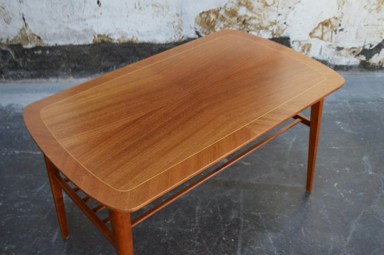 Mid-Century Modern Mahogany Coffee Table for Tingströms In Good Condition For Sale In Atlanta, GA