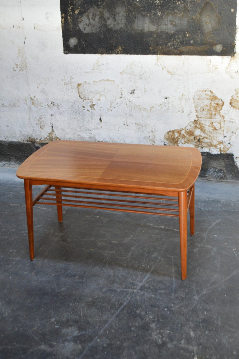 Mid-Century Modern Mahogany Coffee Table for Tingströms For Sale 4