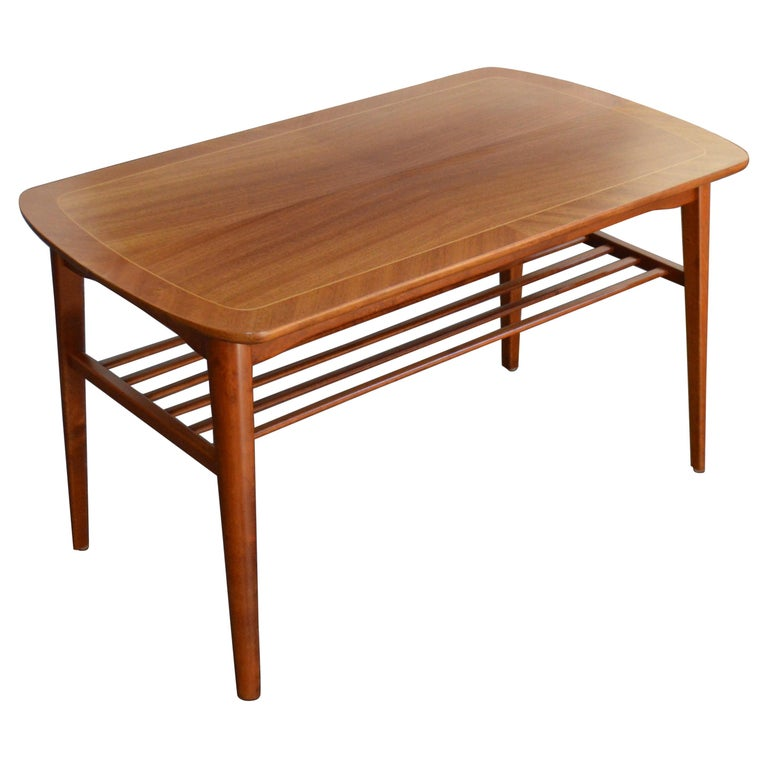 Mid-Century Modern Mahogany Coffee Table for Tingströms For Sale
