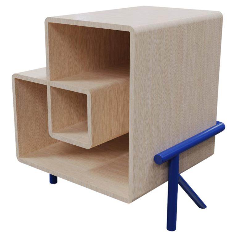 Midcentury Modern Nightstand or End Table in Natural Solid Wood