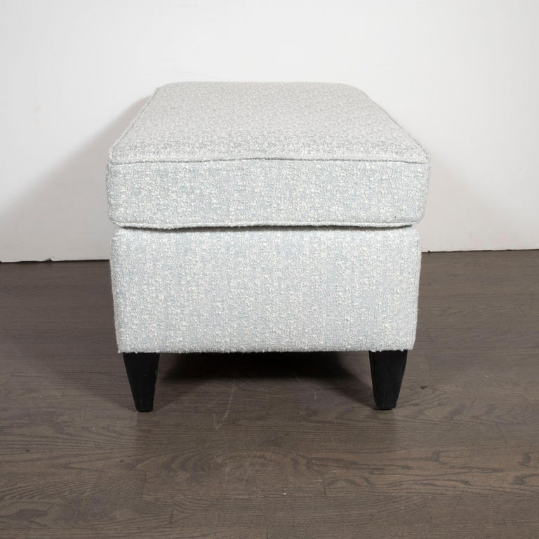 Mid-Century Modern Ottoman in Creations Metaphor Silk Blend Fabric, Paul McCobb In Excellent Condition For Sale In New York, NY